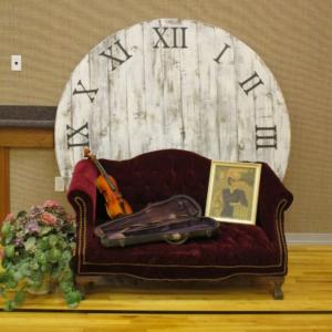 6ft Shabby Clock