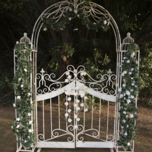 Ornate arch with greenery